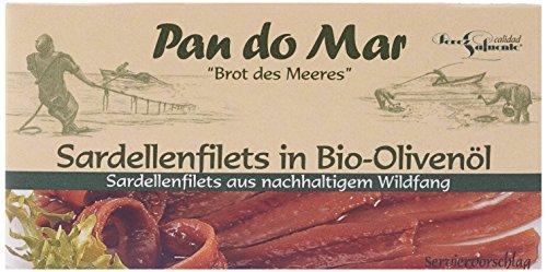 Pan do Mar Sardellenfilets (Anchovis) in Bio Olivenöl, 5er Pack (5 x 50 g)