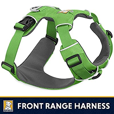 RUFFFWEAR Ruffwear - Front Range No-Pull Dog Harness with Front Clip, Meadow Green, Large/X-Large
