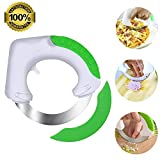 ANIKUV Circular Rolling Knife - Stainless Steel Multi Purpose Cutting Tool - FAST & EASY for cutting Pizza, Meat , Vegetables & Salad