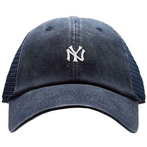 York Yankees Raglan Bone Micro Hat, Navy (Ladies Raglan Cap)