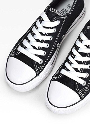 Negro de Zapatillas Urbano Bosanova para Casual Mujer Estilo Bajas q8RRS1xnF
