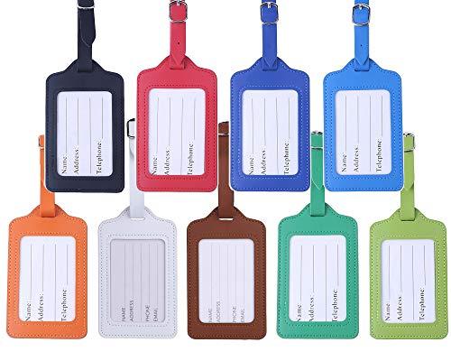 Travel Luggage Tags - Bulk PU Cruise Baggage Tag Set - Ident