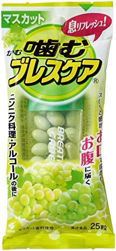 [씹어먹는 구강청결제 브레스 케어(Breath care)] 입냄새 제거 식리프레시 구미(젤리) 머스캣 25알
