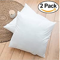 Rohi Set of 2 Hypoallergenic Cushion Pad Stuffer Pillow Insert Sham Square Polyester, Standard/White – MADE IN UK