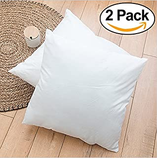 ROHI Set Of 2 45cm X Hypoallergenic Cushion Pad Stuffer Pillow Insert Sham Square Polyester