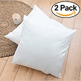 Rohi Set of 2 45cm x 45cm Hypoallergenic Cushion Pad Stuffer Pillow Insert Sham Square Polyester, Standard/White – MADE IN UK (Pack of 2 | 18' x 18')
