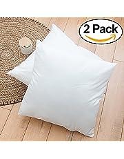 Rohi Set of 2 Hypoallergenic Cushion Pad Stuffer Pillow Insert Sham Square Polyester, Standard/White – MADE IN UK