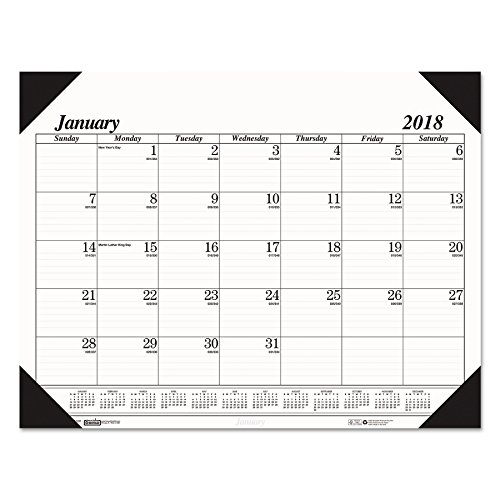 House of Doolittle 124 One-Color Refillable Monthly Desk Pad Calendar, 22 x 17, 2018