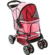 Pink 4-Wheel Night Rider Pet Stroller Jogger