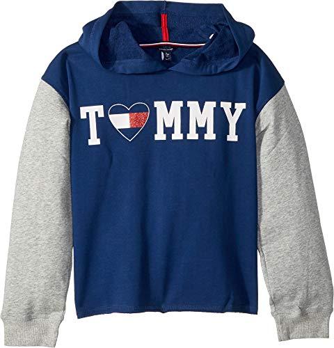 2f64f11b Tommy Hilfiger Big Girls' Pullover Fashion Hoodie, Flag Blue Small 7