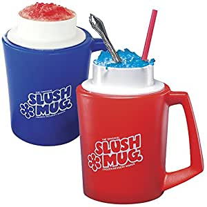 SLUSH MUGS Frozen Beverage Slushie Cups - SET OF 2 - Slushee Treats at Home