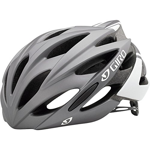 Giro Savant Road Bike Helmet, Matte Titanium/White, Medium (Parts Titanium Bike)