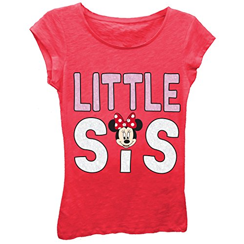 Disney Mickey and Minnie Mouse Siblings T-Shirt (5/6, Little Sis)