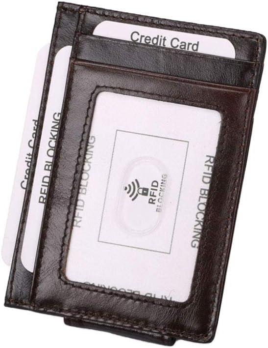 Bloqueo RFID Cartera para Tarjeta de Crédito - Cartera de Tarjeta de Presentación de Identificación de Viaje Plegable con Caja de Regalo MEYINI: Amazon.es: Equipaje