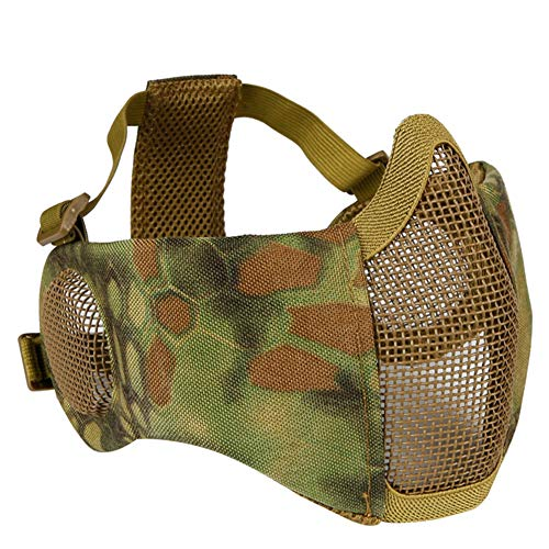 (Leoie Outdoor Earmuff Mask Riding Breathable Wire Mask Jungle Python Pattern Camouflage One Size)