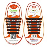 Coolnice® No Tie Shoelaces for Kids Outdoor Sports - Flat Elastic Stretchy Waterproof
