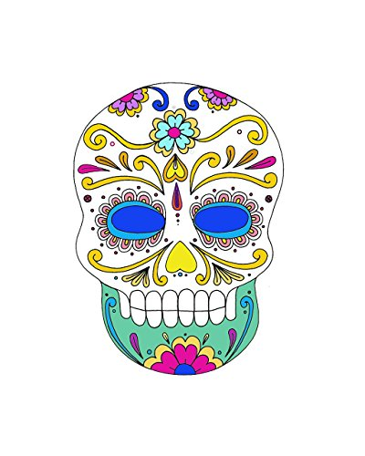 Mexican Skull Decor Sugar Day of the Dead POSTER Halloween home wall art print A3 -