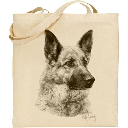 Mike Sibley German Shepherd Cotton Natural Bag
