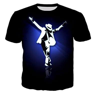 7eaven Shop T-Shirt 3D Print King of Rock and Roll Michael Jackson Singer Star Rock 05