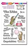 STAMPENDOUS SSCM5002 Painted Wishes House Mouse Clear Stamp Set