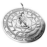 ANTIQUECOLLECTION Sun Detail Compass Point Sundial in Bright Chrome - 180mm Diameter