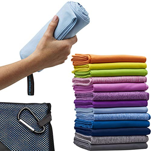 (Microfiber Travel Towel, XL 30x60 - Free Fast Dry Hand Towel - Our Super Absorbent Dry Towel is So Soft, Lightweight and Compact - Great for Camping, Gym or a Beach Towel, Includes Handy Carry Bag)