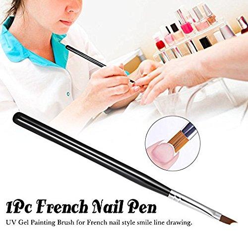 ZHJZ Cepillo de uñ as francé s UV, herramienta de decoració n de pinceles de gel herramienta de decoración de pinceles de gel
