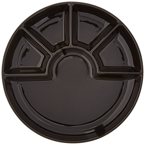 Swissmar Set of 4 Fondue/Raclette Plates, Black