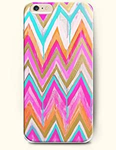 SevenArc Apple iPhone 6 Case 4.7' - Aztec Indian Chevron Zigzag Pattern ( Colorful Chevron In Watercolor Painting...