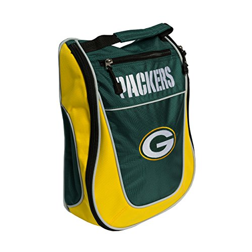 Team Golf NFL Green Bay Packers Travel Golf Shoe Bag, Reduce Smells, Extra Pocket for Storage, Carry Handle ()