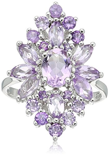 Amethyst Cluster Ring, Size 5