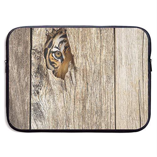 LiaanQianga Siberian Tiger Eye Looking 13-15 Inch Laptop Sleeve Bag - Tablet Clutch Carrying Case,Water Resistant, Black