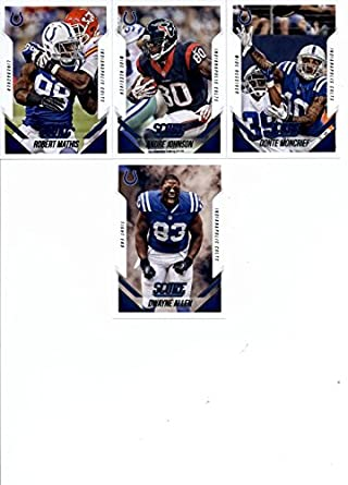 13 cards!! andrew luck!!! team set!! 2015 score colts