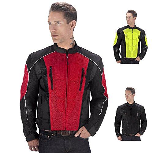 Viking Cycle Textile Warlock Biker Mesh Motorcycle CE Armor Jacket for Men
