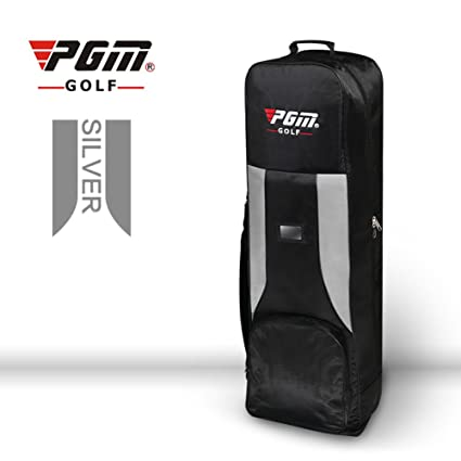 PGM acolchada bolsa de Golf funda de viaje con ruedas, black-gray