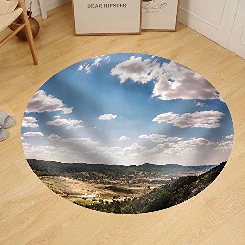 Gzhihine Custom round floor mat Spain Landscapes by Gzhihine