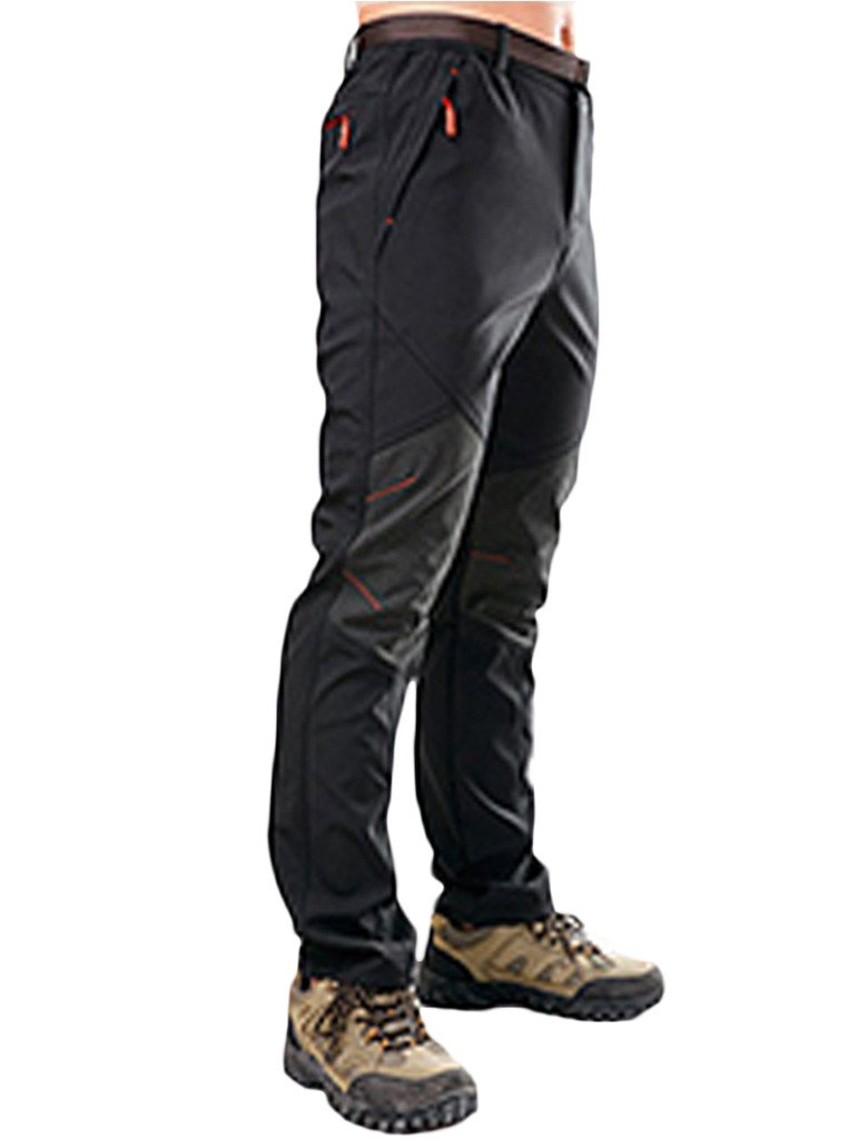 47558d703f5 Lakaka Mens Waterproof Trousers Windproof Soft Shell Fleece Lined Stretchy Breathable  Outdoor Climbing Pants   Amazon.co.uk  Sports   Outdoors