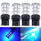 7440 led bulb blue - KATUR 4-Pack Blue Super Bright 750Lums 7440 7440NA 7441 992 Base 27 SMD 5050 LED Replacement for Car Incandescence Bulb RV Camper Brake Turn Lamp Lights DC 12V 8000K