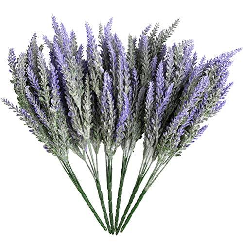 ATPWONZ 6 Bundles Artificial Lavender Plant with Silk Lavender Flowers Lavender Bouquet for Wedding Decor, Home, Garden, Patio Decoration