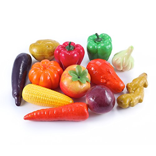 12pcs Artificial Lifelike Vegetables Chili Pepper Eggplant Potato Pumpkin Corn Carrot (Fake Chili Peppers compare prices)