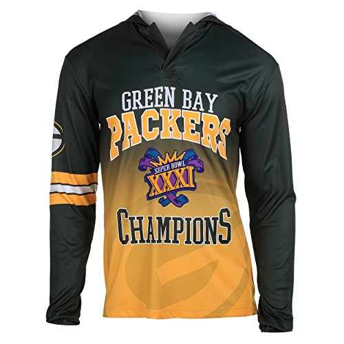 (FOCO NFL Green Bay Packers Super Bowl XXXI Champions Hoody Tee, Large)