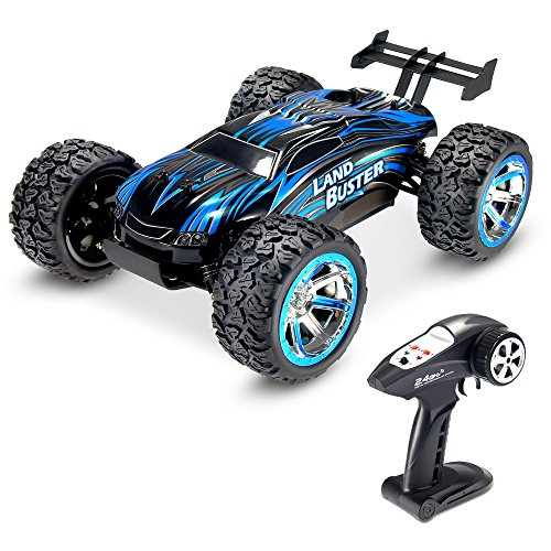 Theefun 1:12 2.4Ghz Radio 4WD Fast 30 MPH RC Car, High Speed Electric Remote Control Off Road Monster Truck (Race Solid Heavy Duty)