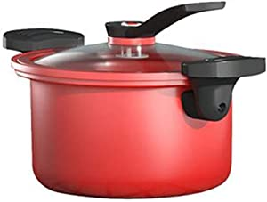 Ceramic non-stick pressure cooker, low pressure cooker, saucepan, boiling pot, double spike sliding lock, shaped pot bottom, suitable for every family 24CM