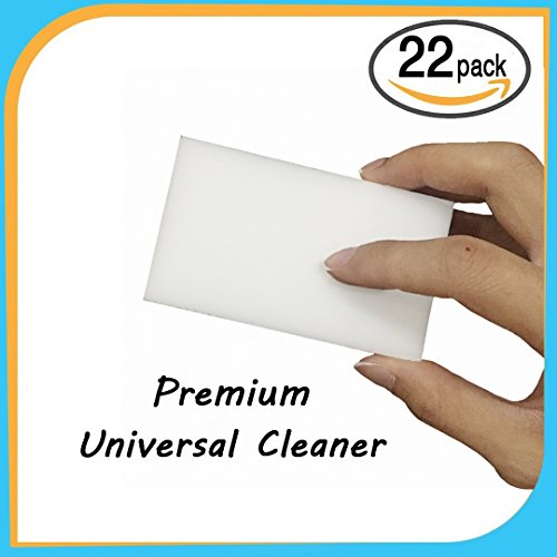 Premium Multi-Surface Cleaner Erasers - 22 PACK, Magic Clean Brush Eraser, Cleaning Melamine Sponges Dirt Removers For - Office, Home, Car, Kitchen, Bathroom - Universal Erasers Pads For All Surfaces