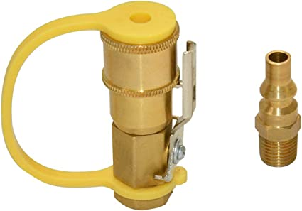 Brass 1//4/' RV Propane Quick Connect Connector Adapter Gas BBQ Grill Fitting