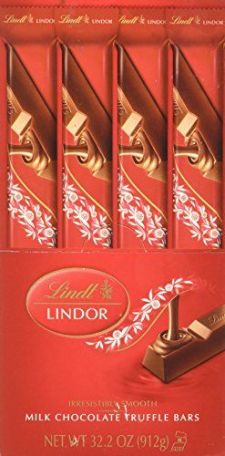 Lindt Lindor Milk Chocolate Truffle Bar, 24 Count