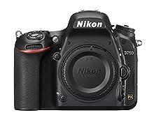 Nikon D750 Cuerpo de la cámara SLR 24,3 MP CMOS 6016 x 4016 Pixeles Negro - Cámara Digital (24,3 MP, 6016 x 4016 Pixeles, CMOS, Full HD, 750 g, Negro)