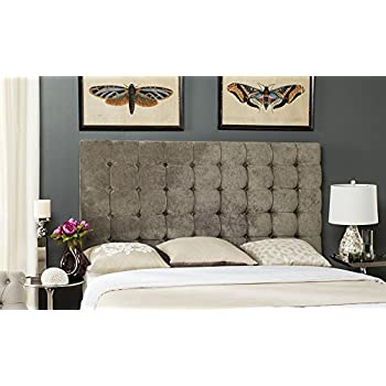 Safavieh Mercer Collection Lamar Greige Tufted Velvet Headboard, King