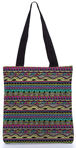 Snoogg Aztec Modello Flowy 13.5 X 15 Pollici Shopping Bag Tote In Tessuto Di Poliestere