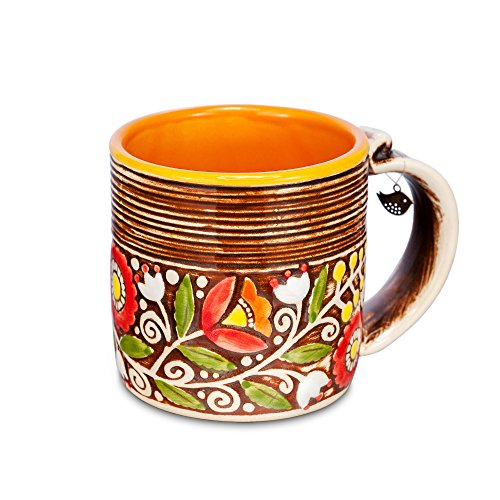H-line HANDMADE Unique 3D Ceramic funny morning diner big/half Coffee Chai Tea Cup Mug 14,5Oz. Birthday gift ideas for him, her, mom, women grandma co…
